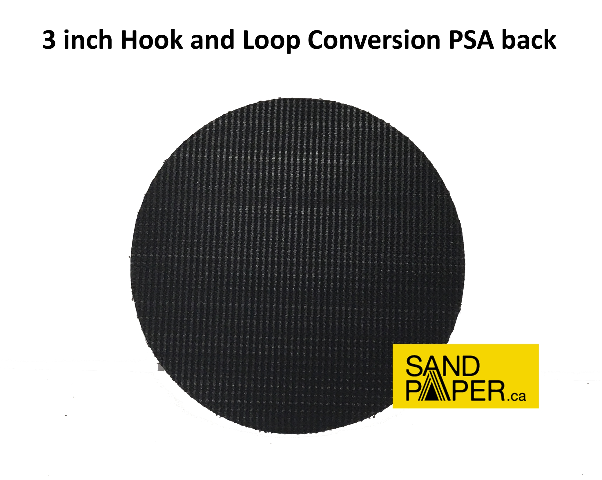 "Hook And Loop Sandpaper >> Hook and Loop Conversions :: 3"" - Hook & Loop Conversion -PSA back"